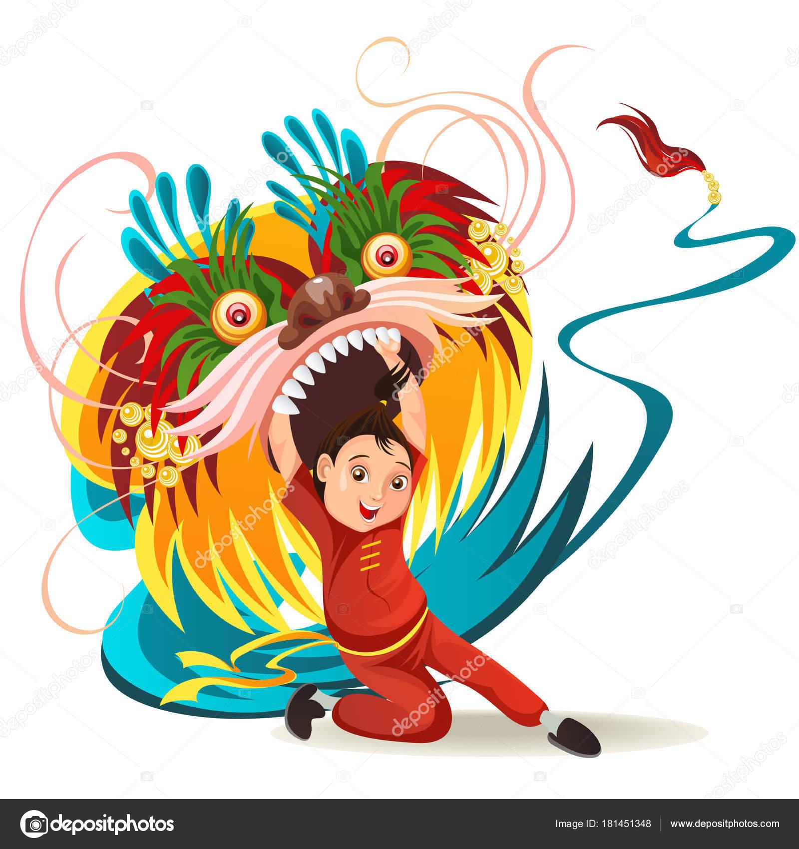 Chinês Lunar Ano Novo Leão Dança Luta Isolado No Fundo