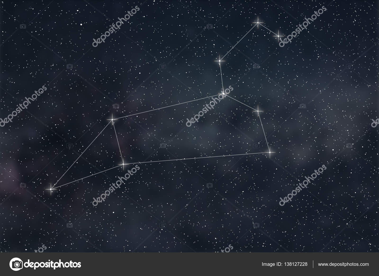 Leo Constellation. Zodiac Sign Leo constellation lines ...