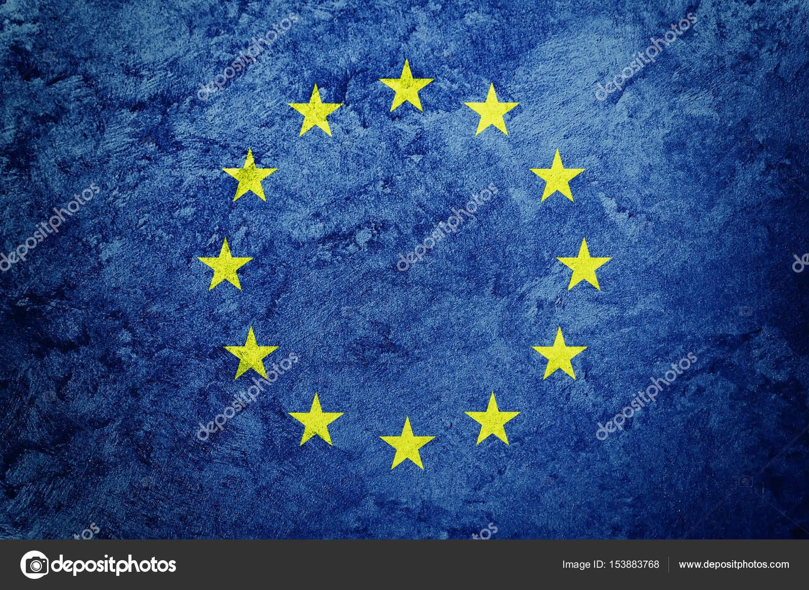 グランジ ヨーロッパ連合の旗。...
