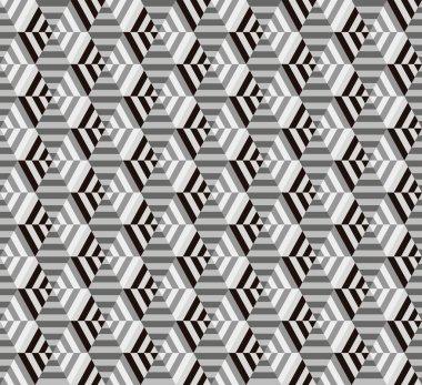 seamless geometrical hexagon pattern