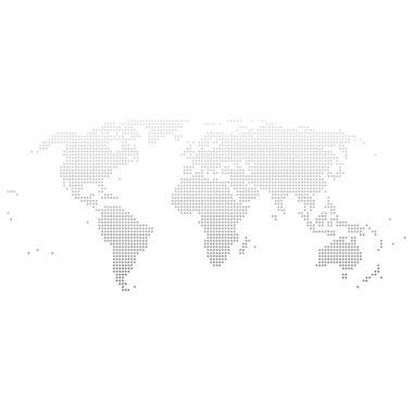 world map illustration dots
