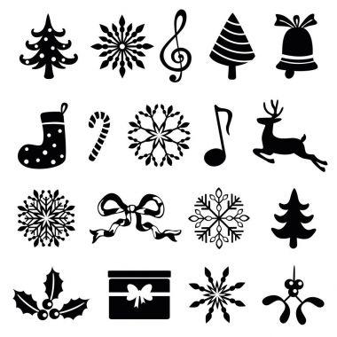 christmas icon set