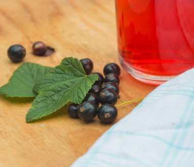 useful compote of berries, black currants.