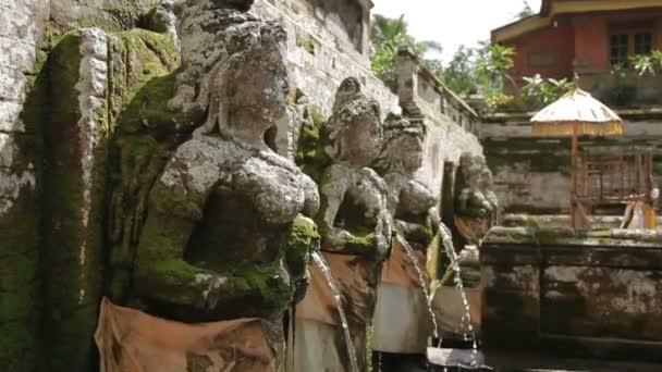 Fountains At Goa Gajah Temple The Elephant Cave Temple Ubud Bali Island Indonesia