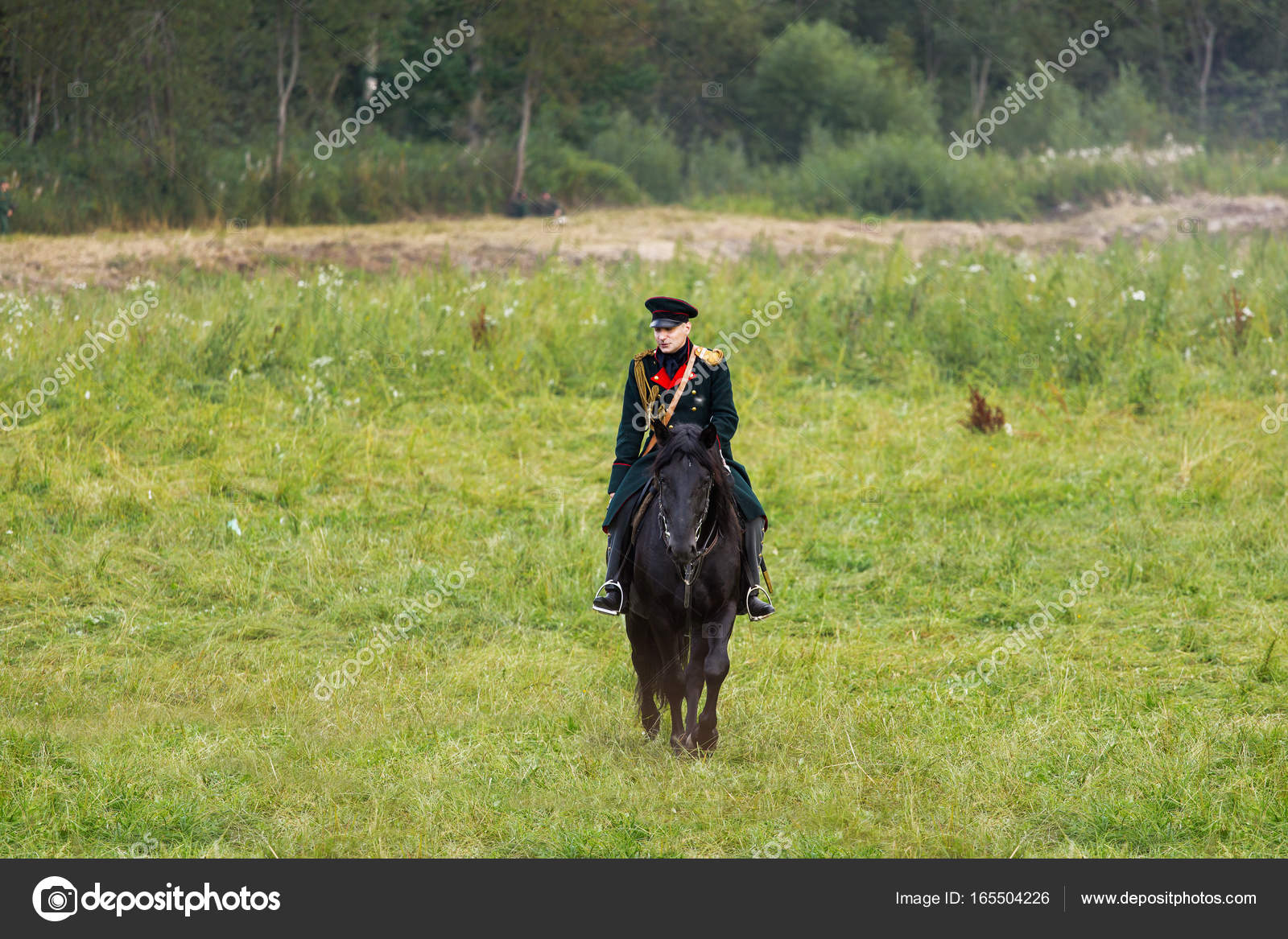 BORODINO, RUSSIA - September 02, 2017 - Reenactment of the battle of