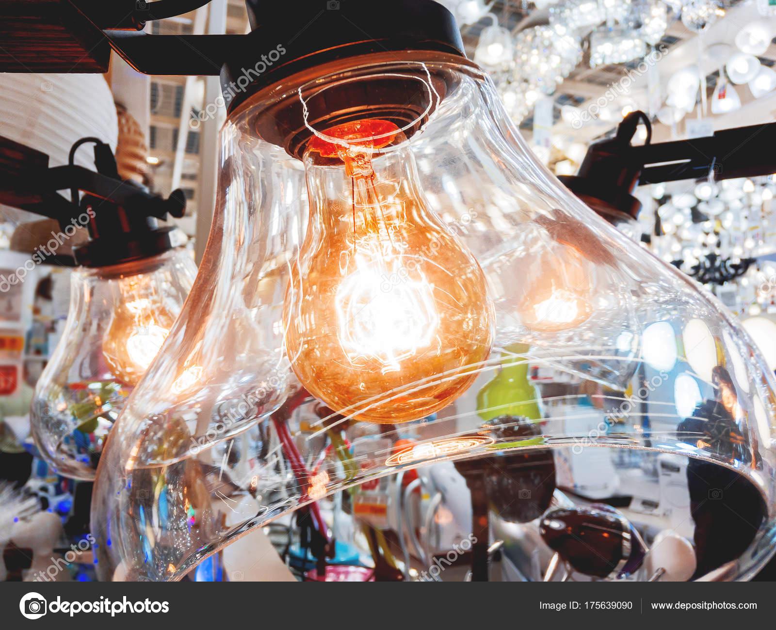 Plafoniere Vetro Trasparente : Lampadario in vetro trasparente plafoniera e lampadine vecchi