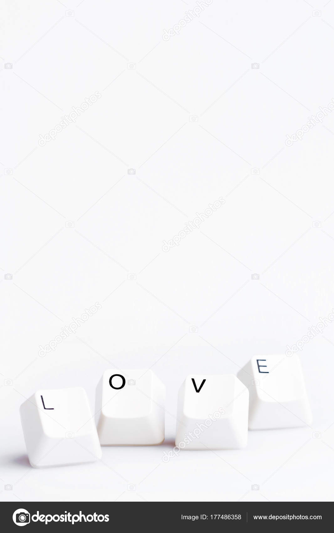 Word Love On Computer Keyboards Buttons May Be Used As Symbol Of