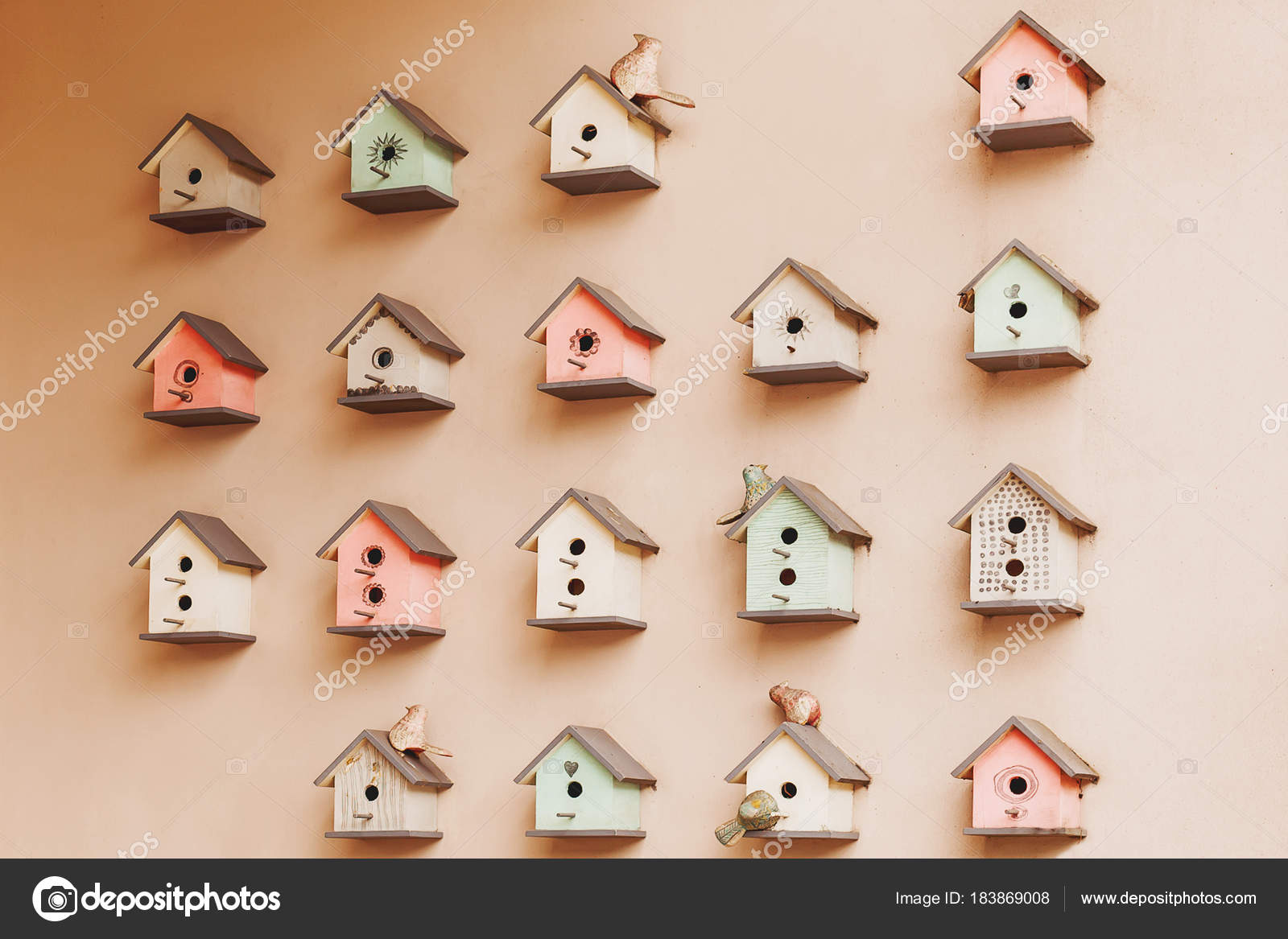 Pictures Decorating Bird Houses Outdoor Wall Decoration Small