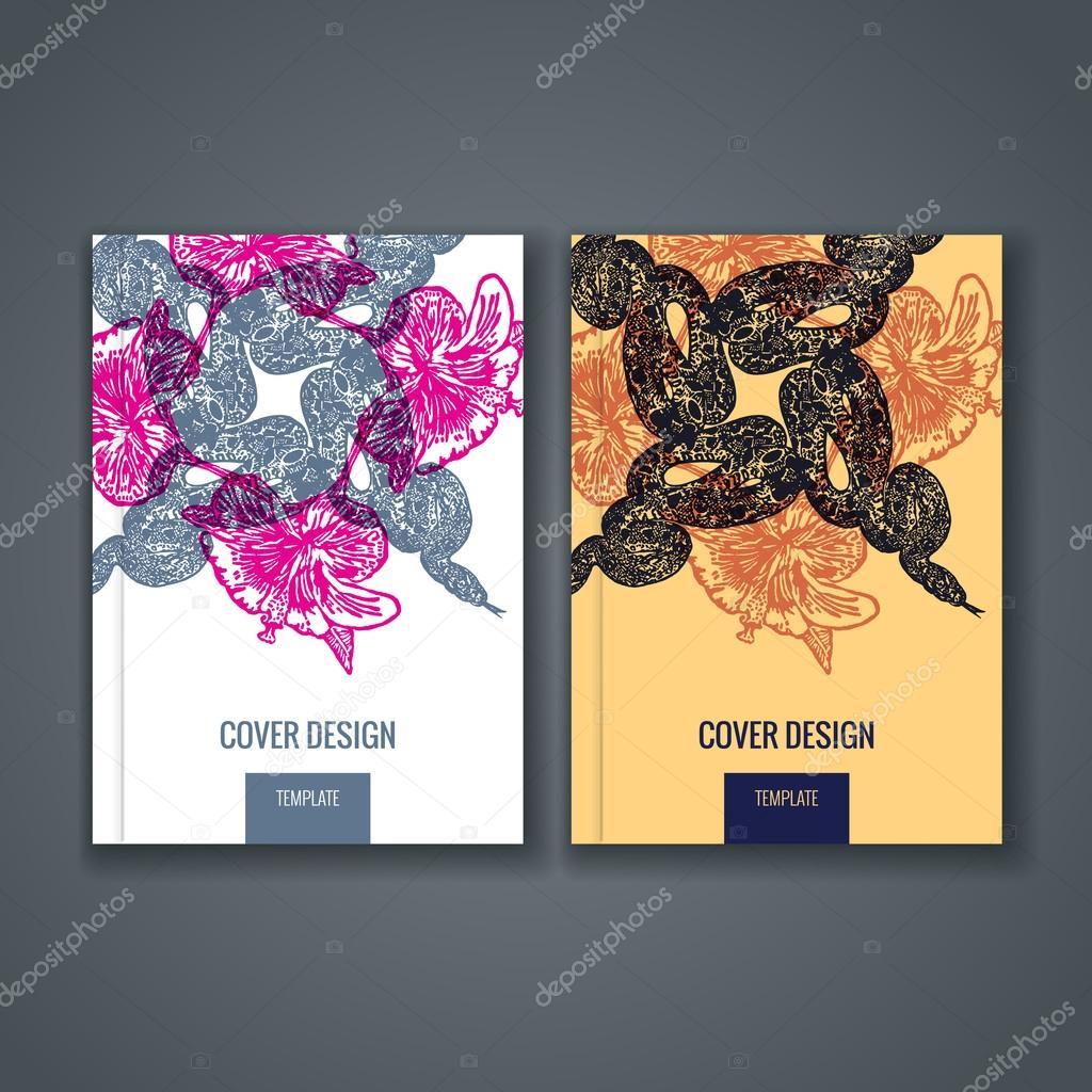 Vorlage Layout, Cover-Design von Jahresbericht, Buch, Zeitschrift ...
