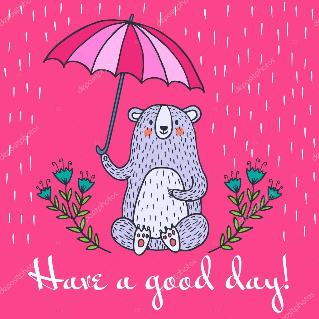 Have a good day greeting card stock vector antart 127504822 have a good day greeting card stock vector kristyandbryce Gallery