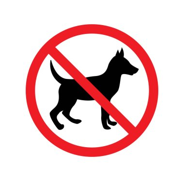 Dog prohibited signs