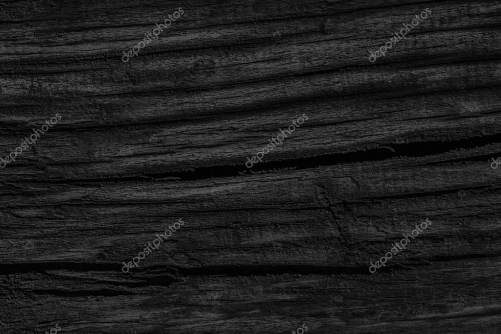 Old Knotted Wood Weathered Rotten Cracked Bleached And Stained Charcoal Black Grunge Texture
