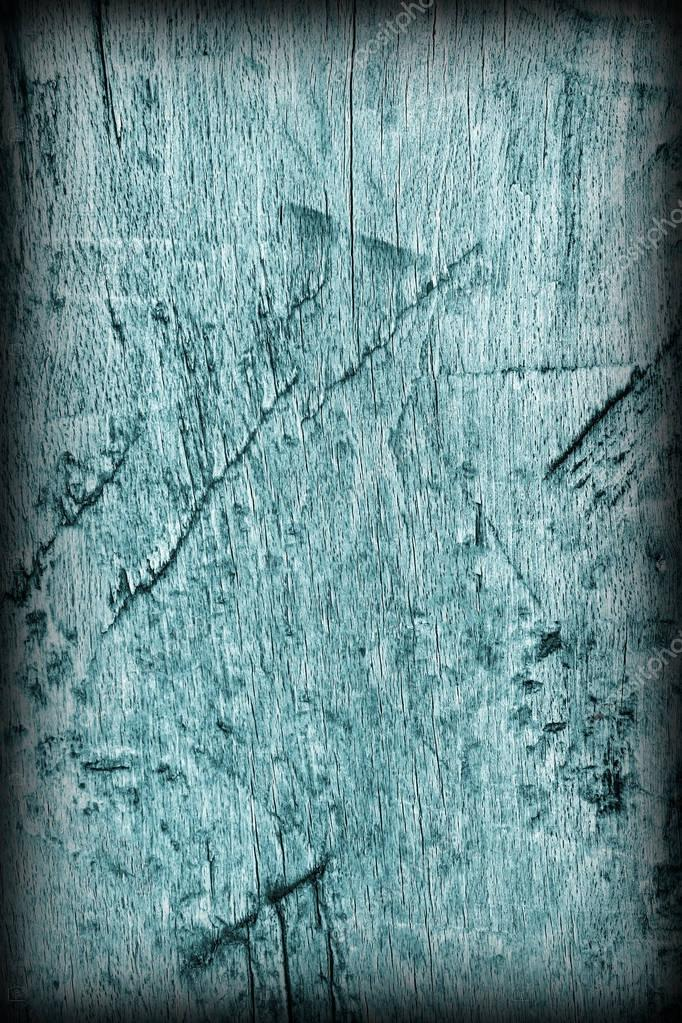 Old Weathered Rotten Cracked Wooden Rustic Floorboard Coarse Monochrome Cyan Vignette Grunge Texture