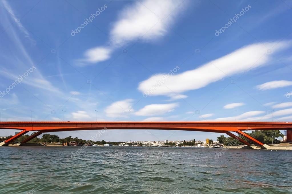 Gazelle Bridge Over Sava River - Belgrade - Serbia