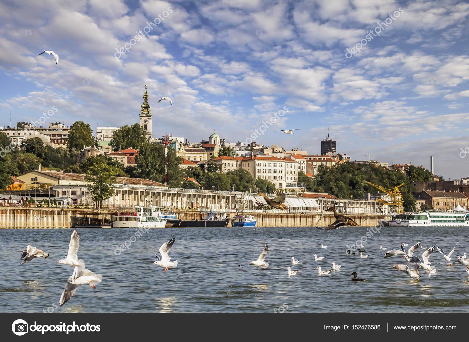 サヴァ川の視点から見た観光港、...