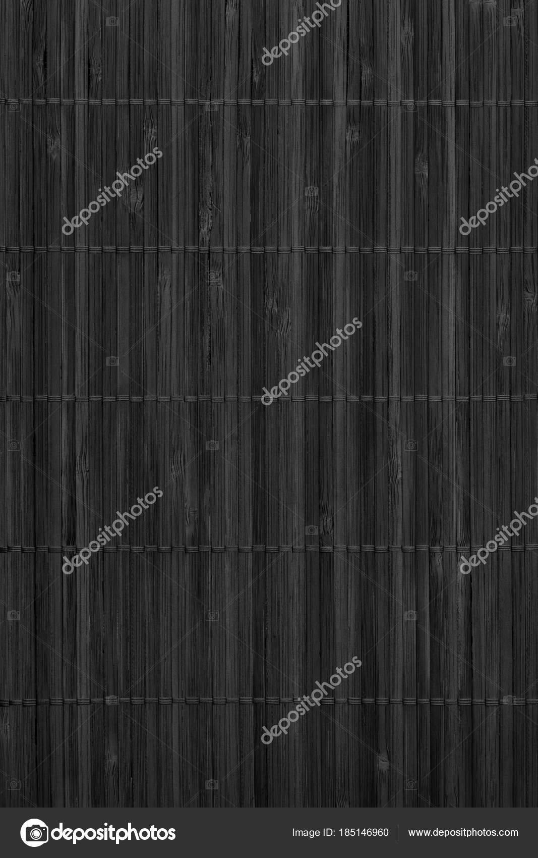 Estera de lugar de bambú rústico negro rejilla entrelazada Grunge ...