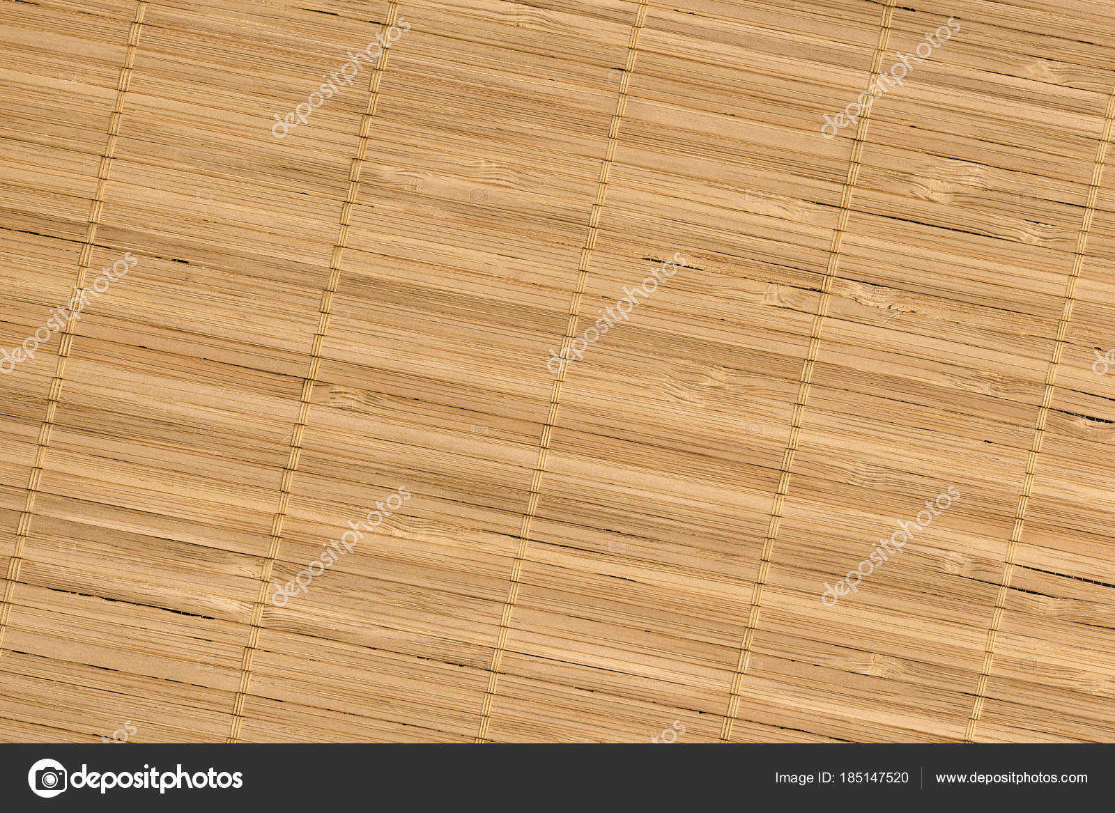 Rustikale Naturliche Licht Braun Bambus Tischset Lattenrost