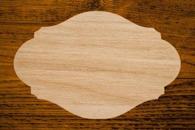 empty wooden frame board