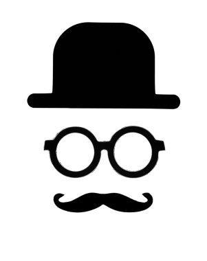 Retro gentleman icon
