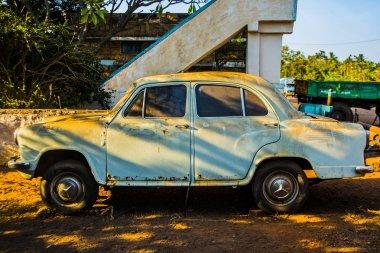 abandoned rusty Ambassador