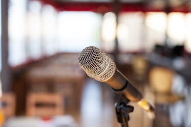 modern Microphone in concert hall