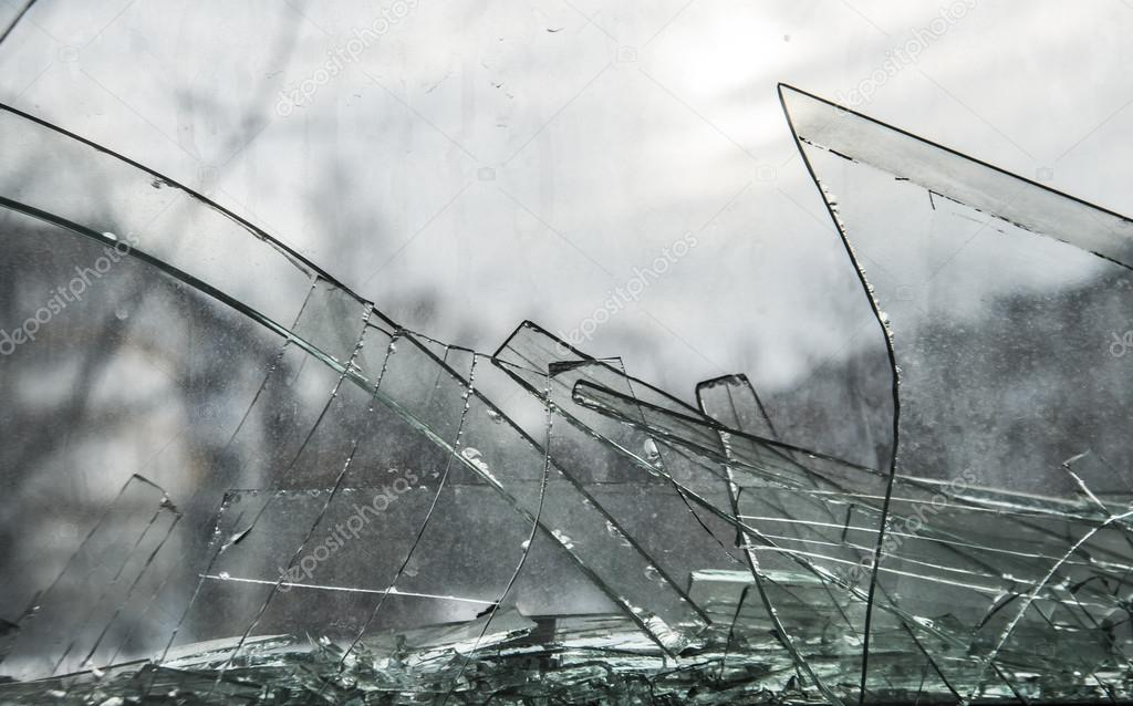 broken glass in window — Stock Photo © borjomi88 #126844458