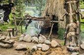 Fotografie Kochen in der Steinzeit