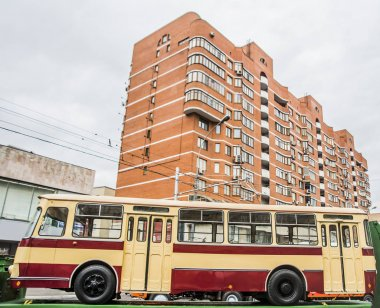 old passenger trolley bus