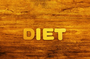 diet word made from colorful letters