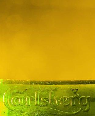 Tuborg green glass bottle of  beer