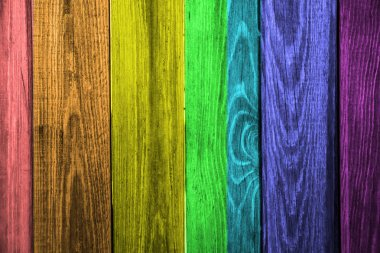 Wooden  Planks with Seven Colors