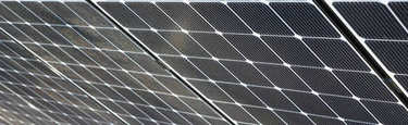 solar power plant, photovoltaic panels arranged in a variety of scenes