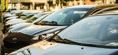 PRAGUE, CZECH REPUBLIC - 01 JUNE, 2017: luxury modern Cars For Sale. Car Dealer Inventory.