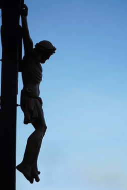 Jesus Christ on the cross against  sky