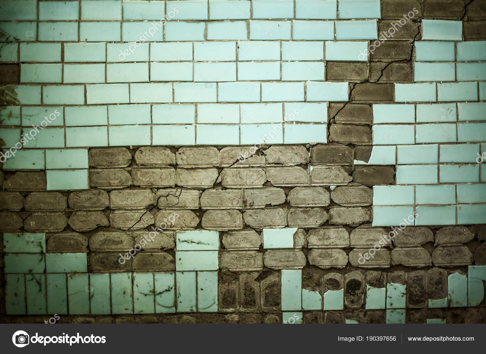 Vecchio pavimento piastrelle ceramica con texture crack sfondo