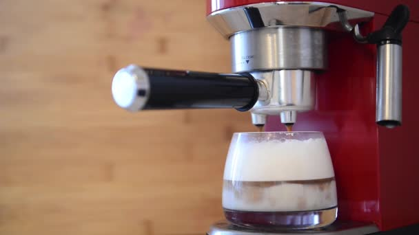 Coffee machine making cappuccino espresso coffee