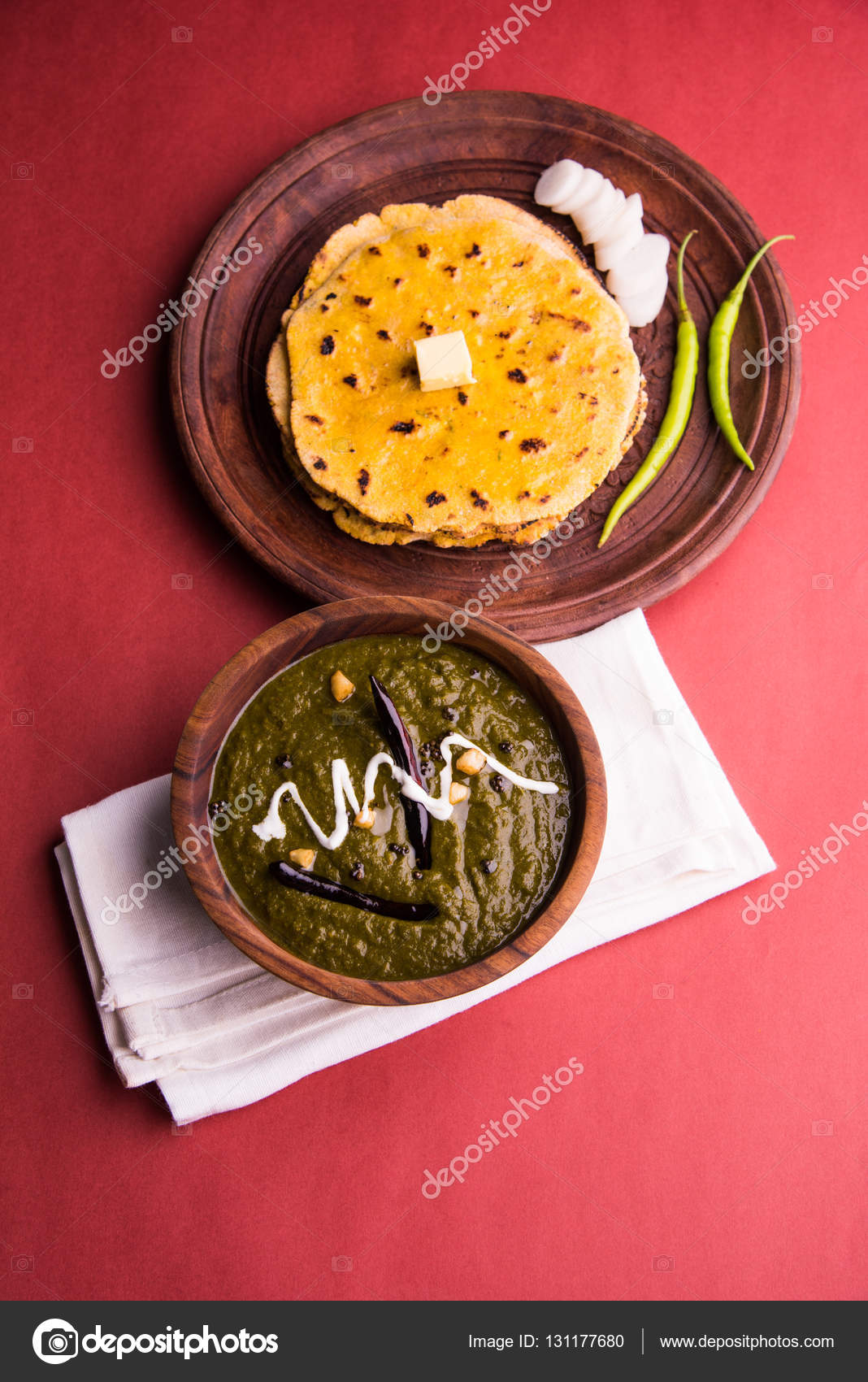 Corn flour flat bread or roti or makki ki roti with sarso da saag or corn flour flat bread or roti or makki ki roti with sarso da saag or mustard leaves curry indian food popular in winter season in north india photo by forumfinder Gallery