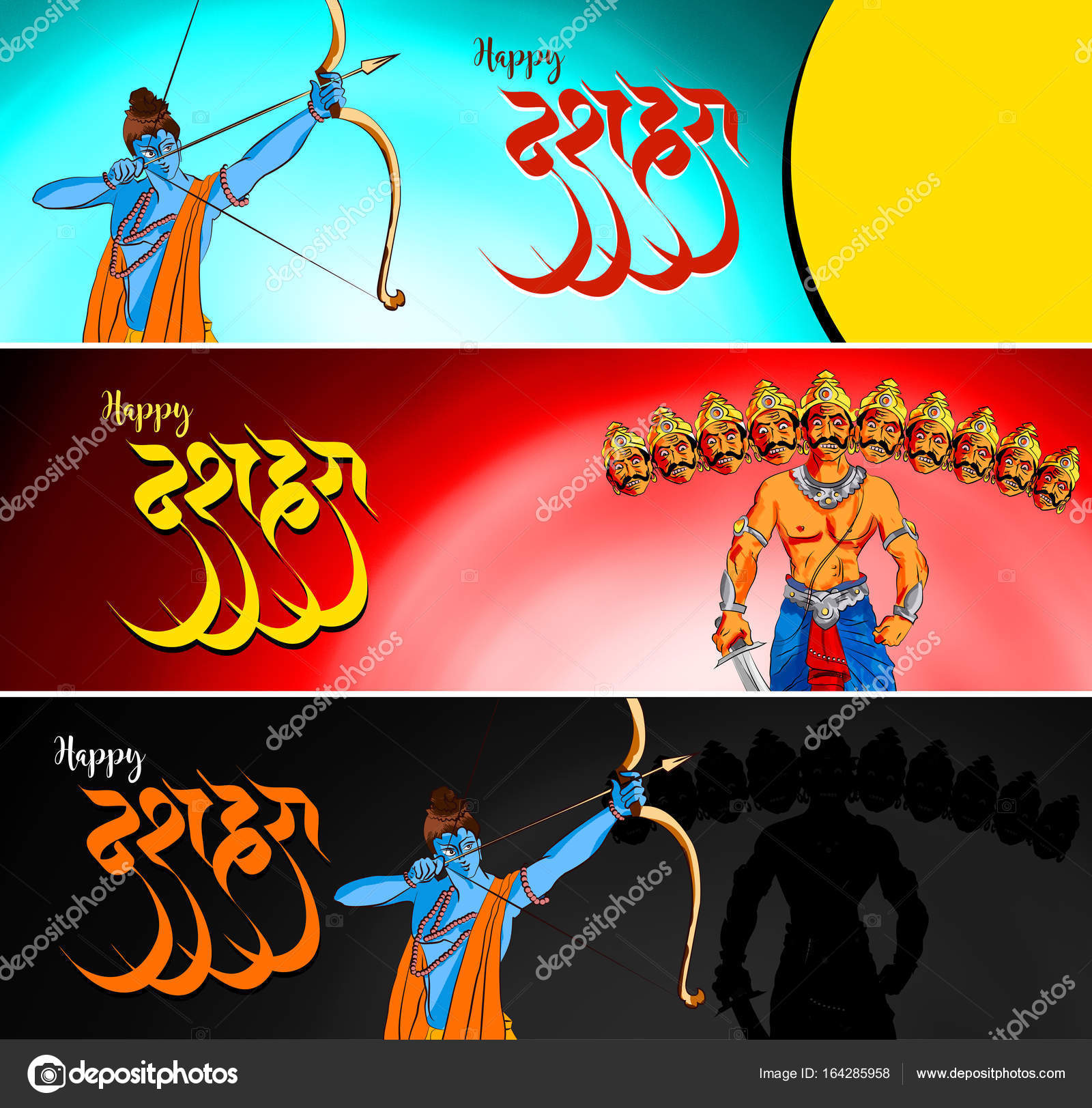 Stock Illustration Of Happy Dussehra Greeting Card Happy