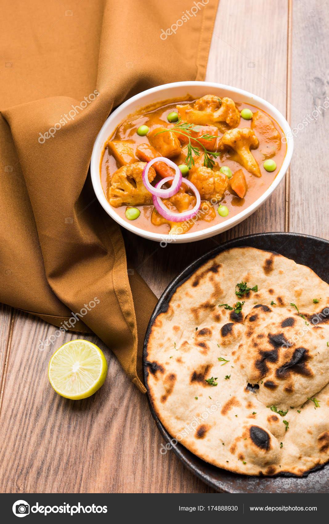 Aloo Gobi Matar Ist Eine Berühmte Indische Curry Gericht Mit ...