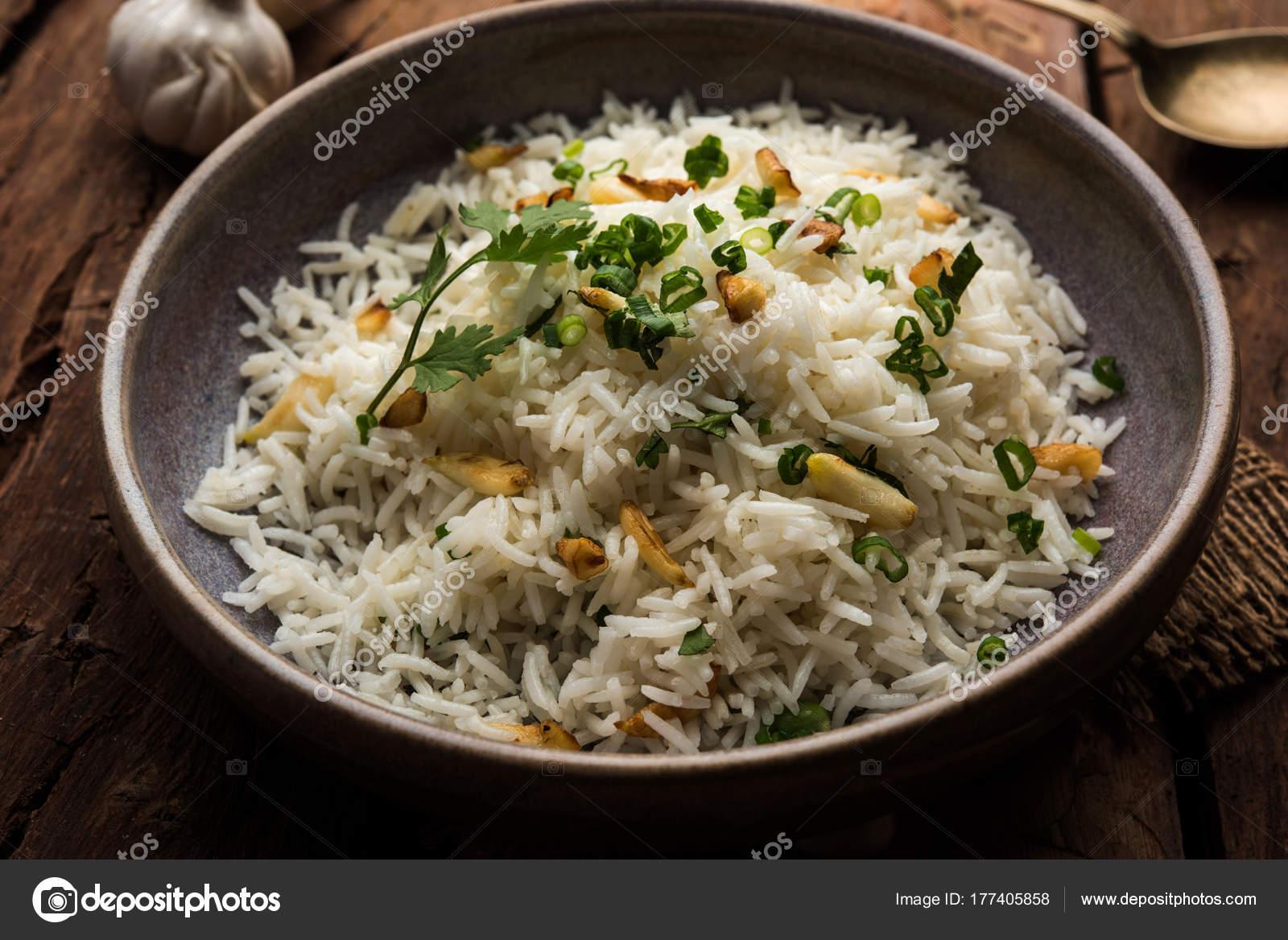 arroz hervido con ajo