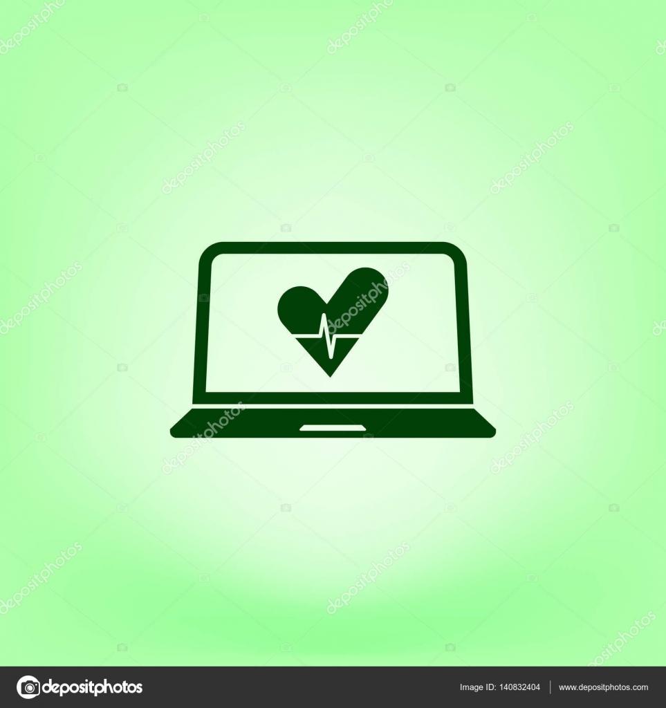 Flache Scherenschnitt-Stil-Ikone der laptop — Stockvektor ...