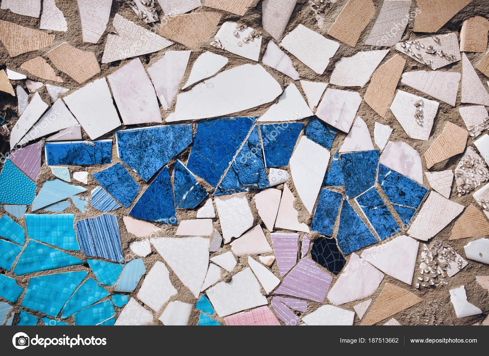 Mosaic Wall Decorative Ornament Ceramic Broken Tiles Decorative ...