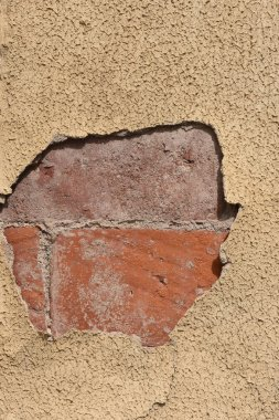 close up of a Cement falling