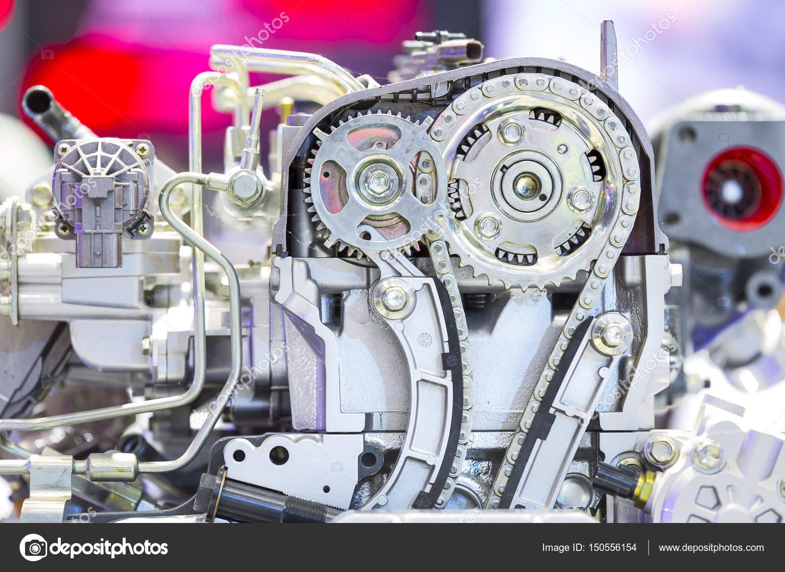 Das Auto Motor Nahaufnahme, Teil der Automotor — Stockfoto ...