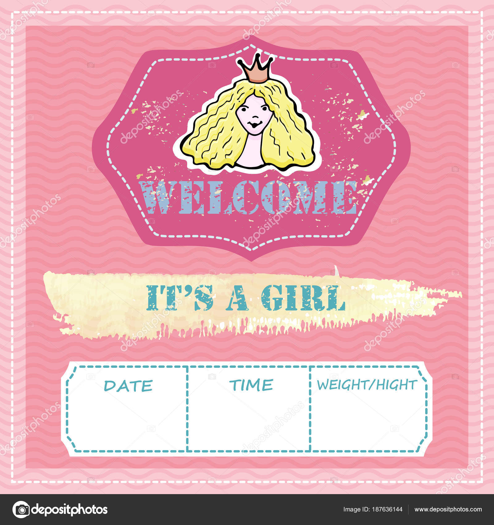 021abaad8 Baby shower and welcome greeting card. Text It s a Boy