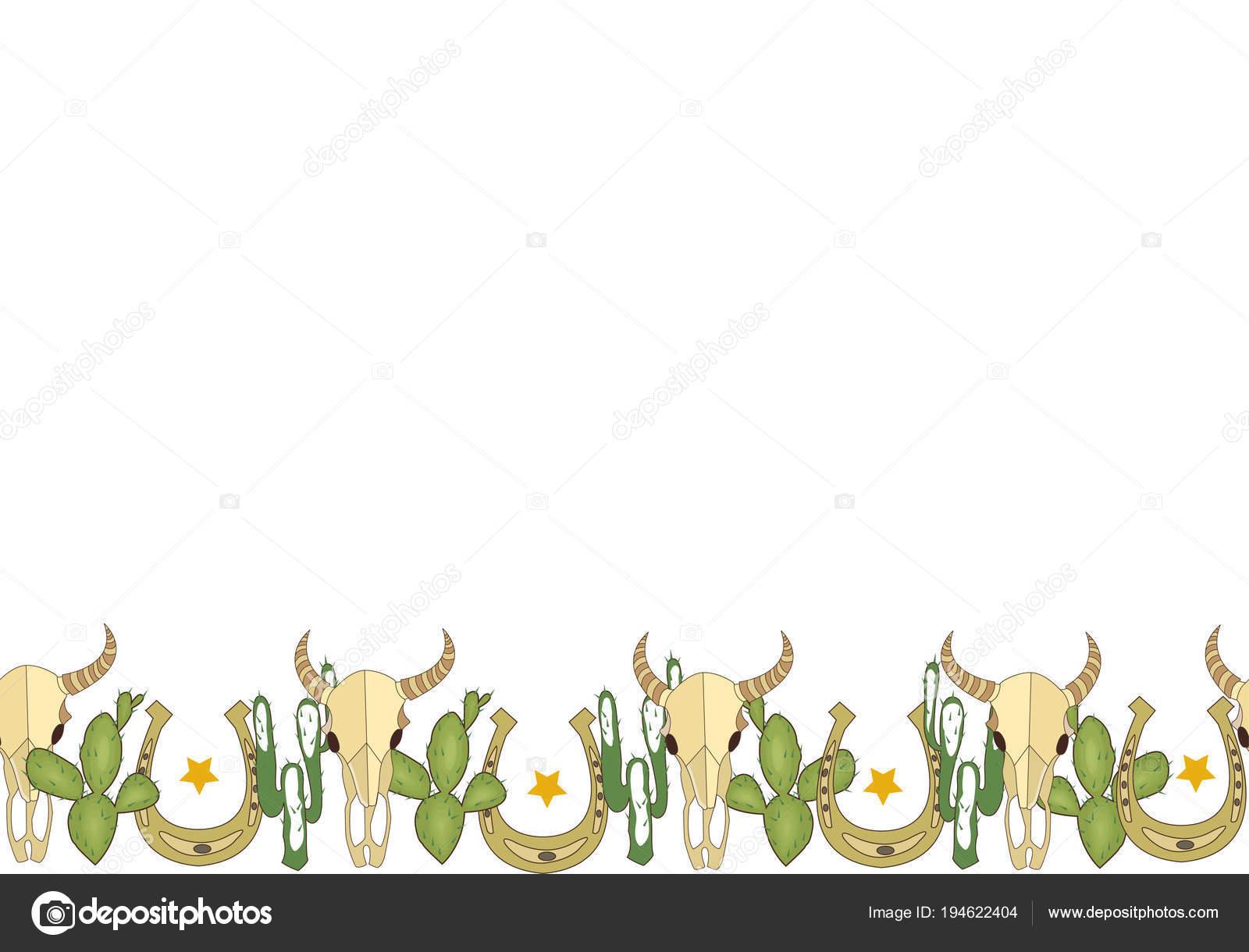 7a891926019 Thème du Far west. Image de vecteur. Crâne de bison