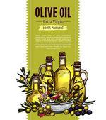 Fotografia Disegno di abbozzo di olio doliva