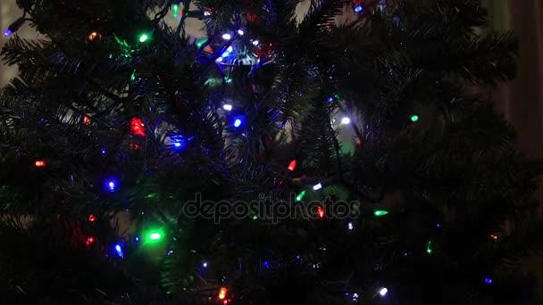 christmas lights twinklingin tree
