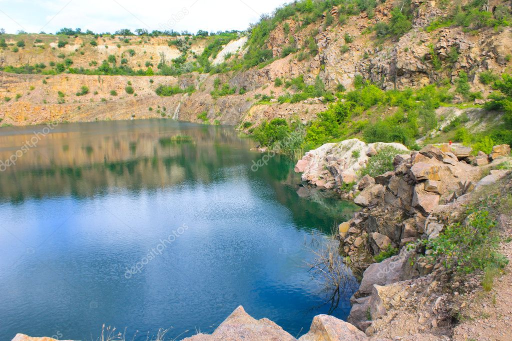 Lake at abandoned quarry