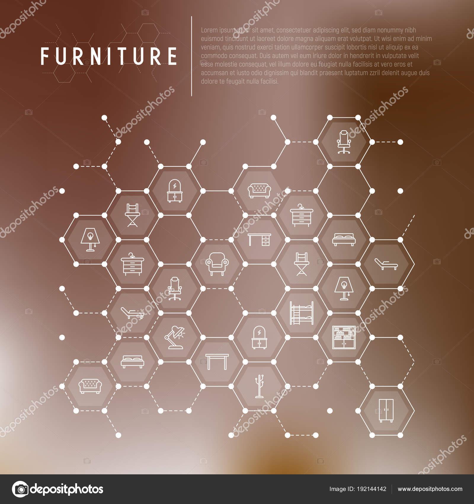 Concepto de muebles en panales — Archivo Imágenes Vectoriales ...